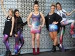Christine Newton, Paige Stockman, Madeleine Weston, Jory-Anne Flecture and Lana Adams model Black Milk designs.