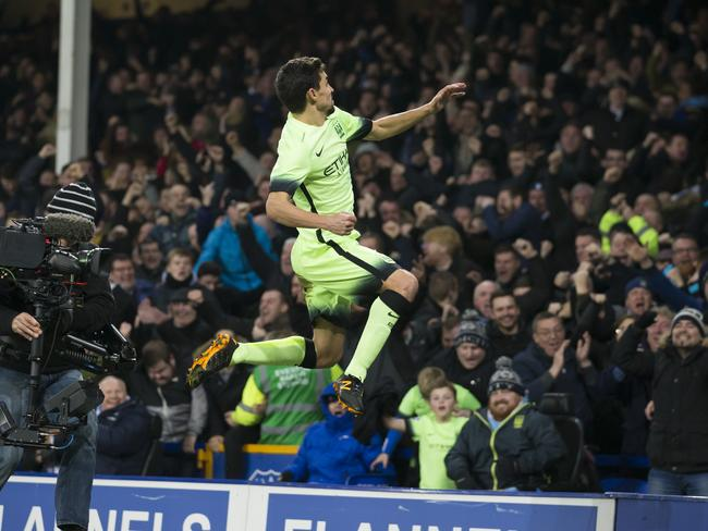 Jesus Navas thought he had secured a draw for Manchester City.