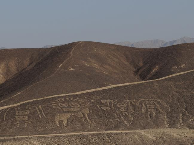 The Nazca Lines are huge geoglyphs which have been preserved for thousands of years due to the dry conditions of the Atacama Desert in Peru. Picture: 'Secrets of Nazca'.