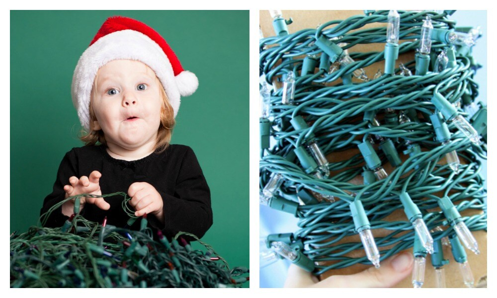 The simple hack that will stop your Christmas lights getting tangled