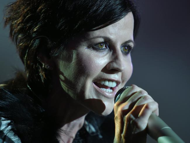 Irish singer Dolores O'Riordan performing on stage in 2016. Picture: AFP
