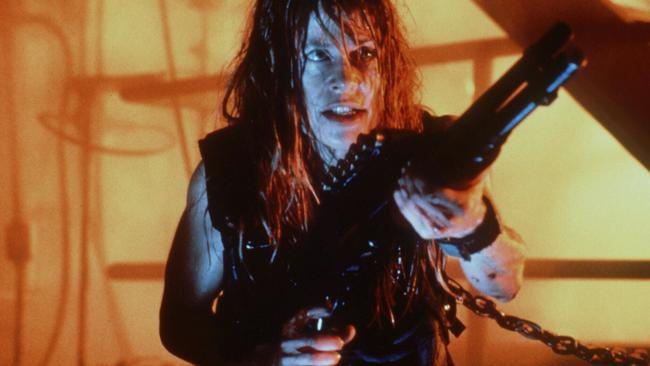 Linda Hamilton stars as Sarah Connor in the film 1991  <i>Terminator 2</i>