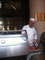 A chef rolls out the barbecue to feed guests at the Stamford Grand in Glenelg. Picture: Janice Guerra