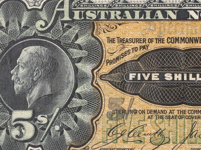 More than one million five-shilling notes were destroyed.