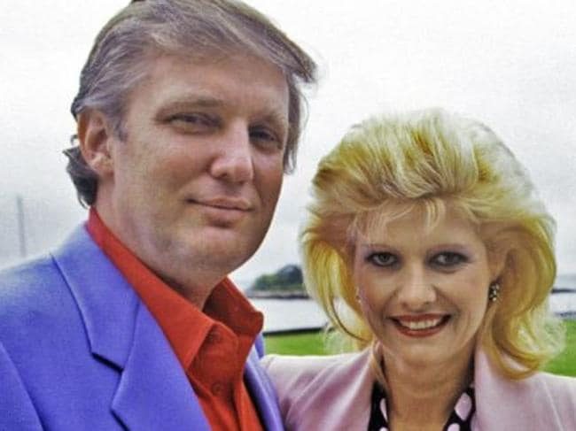 Ivana and Donald Trump. Picture: Supplied