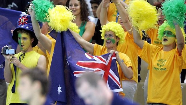 Australian sporting fans are expected to outnumber other countries at the London Olympics. Picture: Jeff Darmanin