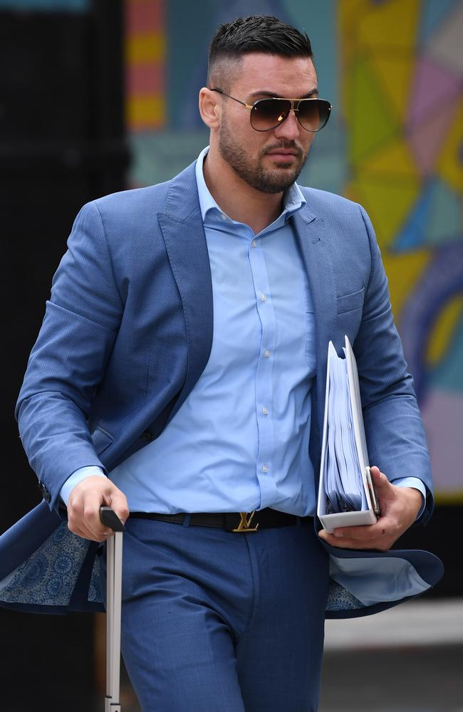 Salim Mehajer arrives at the Federal Court in Sydney. Picture: David Moir