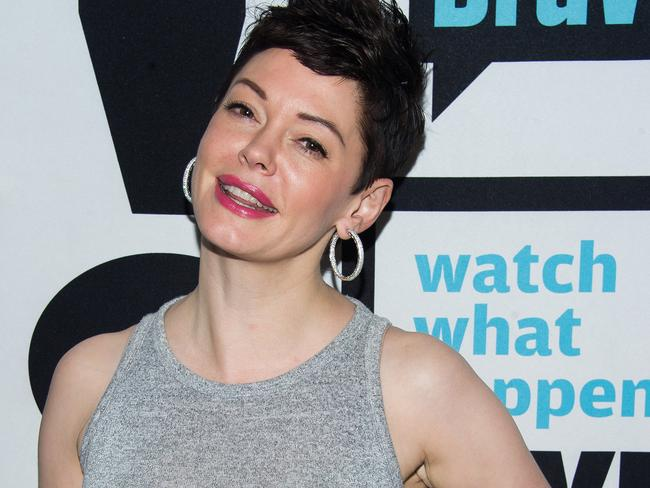 Rose McGowan attends Watch What Happens Live!