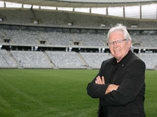 Successful refugee: Les Murray is known as both the face and voice of soccer in Australia. As the most prominent commentator and presenter of soccer on Australian television, he is credited with championing the rise in popularity of the sport. He emigrated to Australia from his native Hungary as an 11-year old refugee in 1957. Picture: AP