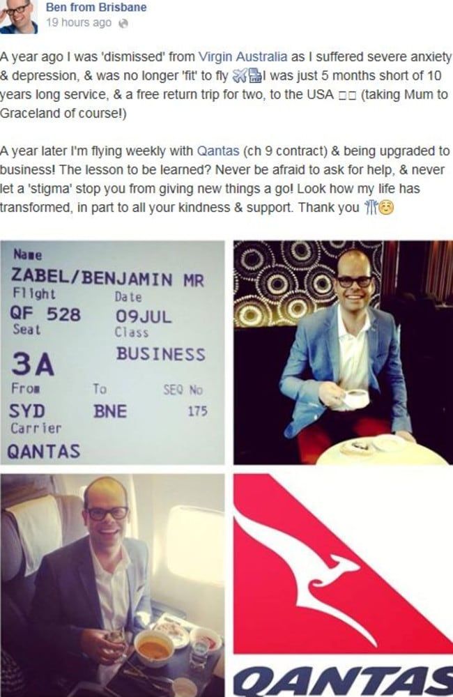 Ben Zabel made this statement on his Facebook fan page. Picture: Facebook