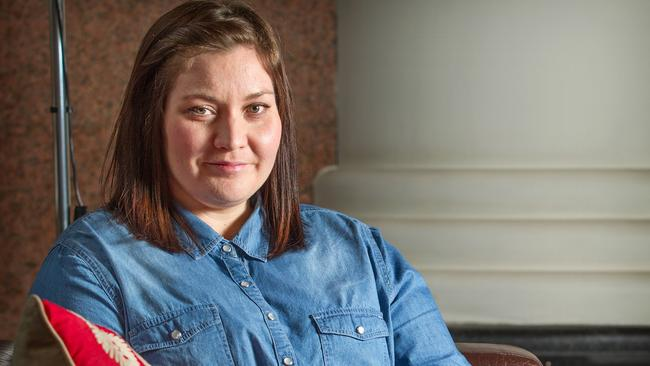 Saving money ... Kirsty Adams, 31, has been putting an extra five per cent of her wage into super since she was 23 to help build up her retirement balance. Picture: Sarah Matray