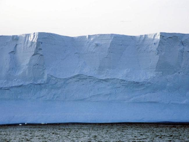 In the balance ... An enormous cliff of ice marks the edge of a glacier in Antarctica. New research suggests such mountains of ice can be inherently fragile. Picture: Peter Lynch