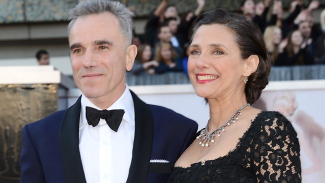 Oscar hopeful and social media favourite Daniel Day-Lewis and wife Rebecca Miller arrive at the Hollywood & Highland Center in Hollywood, California.