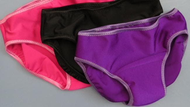 Seamstress Chris McKelvey makes underwear for transgender girls with extra padding in the front to hide the bump.