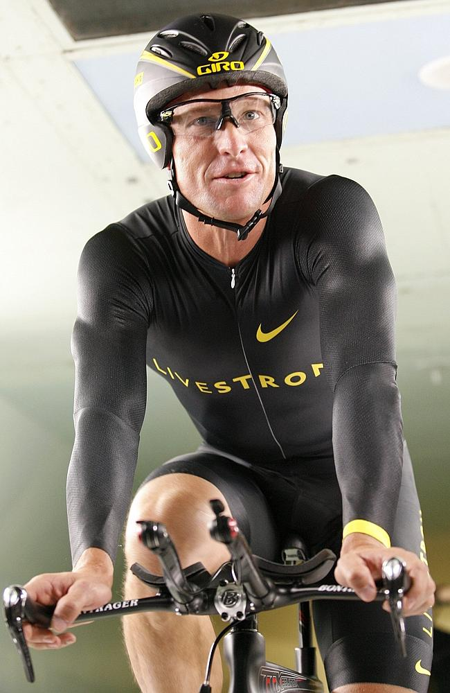 Lance Armstrong pictured in 2008.