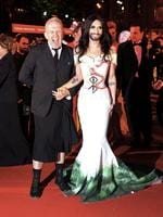 The 22nd Life Ball has taken part in Austria's captial Vienna. Colourful costumes and bizarre appearances followed this year's theme 'Garden of Lust'. Celebrities gathered to fundraise for the fight against HIV. Pictured: Jean Paul Gaultier and Conchita Wurst. Picture: Splash