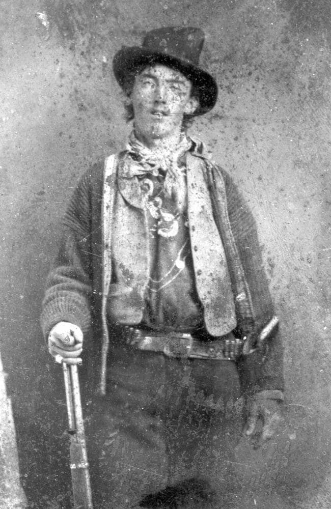 Undated photo of William Bonney, also known as Billy the Kid. Picture: Lincoln County Heritage Trust Archive