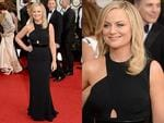 Golden Globes 2014 Red carpet arrivals at the The Beverly Hilton: Amy Poehler is heading up hosting duties with her bestie Tina Fey again this year. Picture: Getty