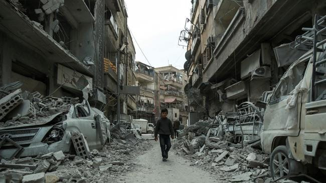 The siege has prompted a global outcry. Picture: AFP PHOTO/Hamza Al-Ajweh