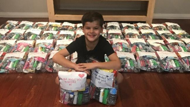 "Adrian's care packs made people ""very happy."""