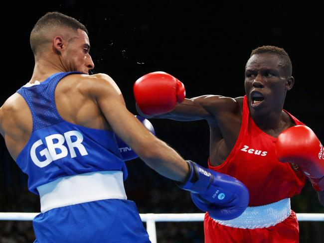 Simplice Fotsala (right) competing against Great Britain's Galal Yafai at the 2016 Rio de Janeiro Olympic Games. Picture: Dean Mouhtaropoulos/Getty Images