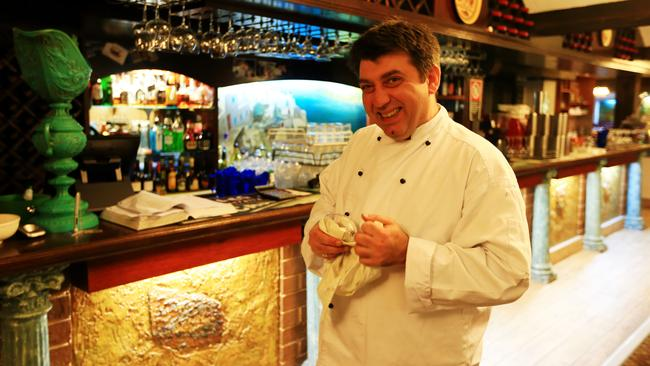Manager John Ventouris of Diethnes Greek restaurant in Pitt St, Sydney. Picture: Adam Taylor