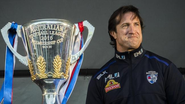 "Western Bulldogs coach Luke Beveridge combines the pragmatic optimism of ""Why not?"" with good radar. Picture: JASON EDWARDS"