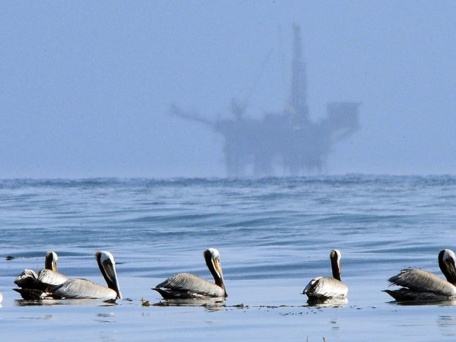 Donald Trump has opened up the US coastline to offshore drilling. Picture: AP/Mark J Terrill