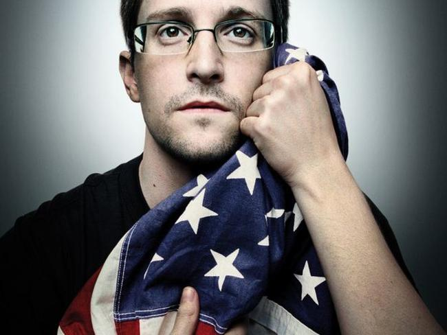 Cover boy ... Edward Snowden appears on the cover of WIRED.