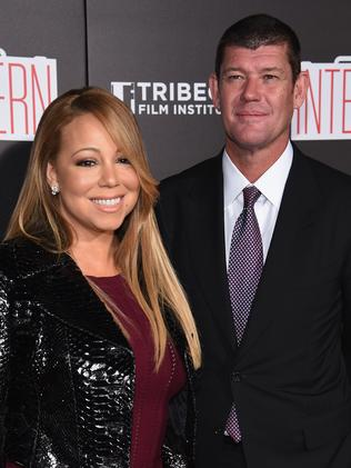 Mariah Carey and James Packer in New York City. Picture: Dimitrios  Kambouris/Getty Images
