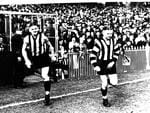 Collingwood's champion Collier brothers, Albert (left) and Harry.
