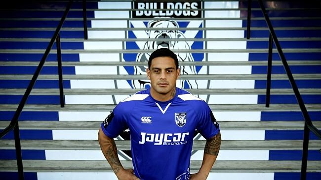 Reni Maitua new Canterbury Bulldogs signing back at Belmore Oval . Belmore .Picture Gregg Porteous