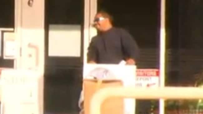 Dangerous sex offender Patrick Alfred Dennis Comeagain was seen dancing as he left prison. Picture: Nine News