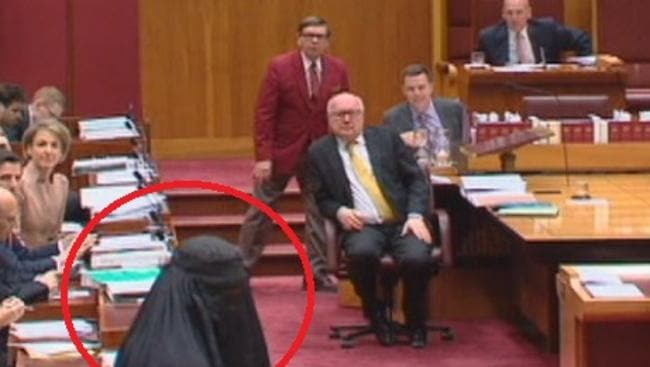 Attorney-General George Brands, centre, was not amused.