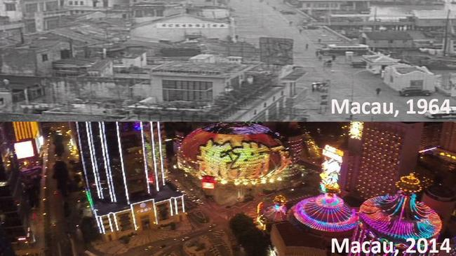 Macau in 1964, compared to today.