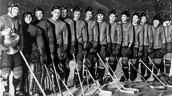 The VVS ice hockey team.