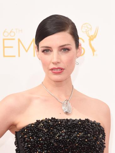 Mad Men actress Jessica Pare attends the 66th Annual Primetime Emmy Awards. Picture: Getty