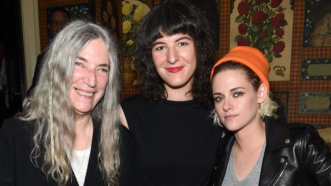 Kristen Stewart with Patti Smith and Jesse Smith at the after-party for the 'Cafe Society' premiere. Picture: Jamie McCarthy/Getty Images