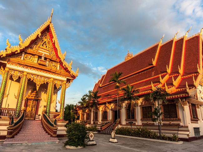 A Buddhist monastery in Savannakhet, Laos.