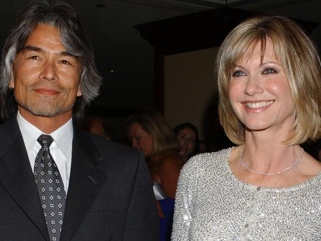Puzzling mystery ... Olivia Newton-John and her ex-boyfriend photographed together 5 months before he went missing in 2005. Picture: AP