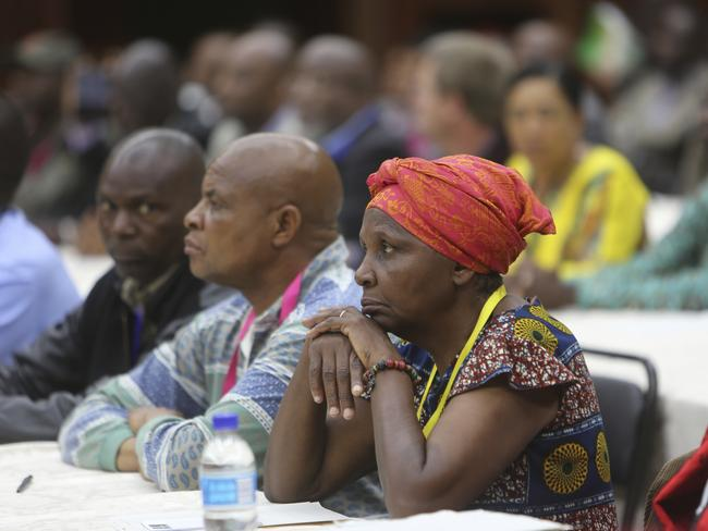 Members of the ZANU PF Central Committee attend a meeting at the party headquarters in Harare, to dismiss leader Robert Mugabe. Picture: AP/Tsvangirayi Mukwazhi