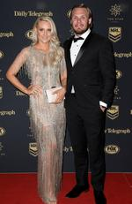 Newcastle Knights player Nathan Ross and wife Nikia arrive at the Dally M Awards in Sydney, Wednesday, September 27, 2017. The awards are named in honour of former Australian Rugby League great Herbert Henry 'Dally' Messenger, and were introduced in 1980. (AAP Image/Dan Himbrechts) NO ARCHIVING