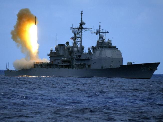 A Standard Missile (SM-3) is launched from the guided missile cruiser USS Shiloh (CG 67) during a US Navy ballistic missile flight test. Two minutes later, the SM-3 intercepted a separating ballistic missile threat target. Picture: US Navy