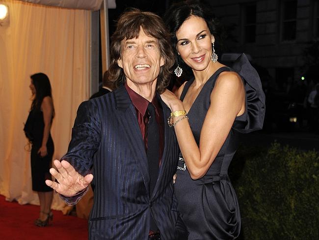 Mick Jagger, left, and L'Wren Scott at the Metropolitan Museum of Art Costume Institute gala benefit.