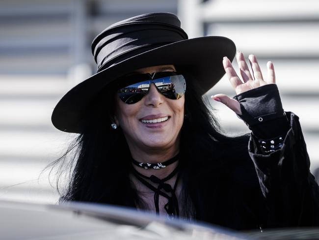 Life after glove: Cher lands in Syndey on Wednesday. Photo by Brook Mitchell/Getty Images