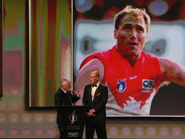 Tony Lockett becomes the first AFL player to be inducted.