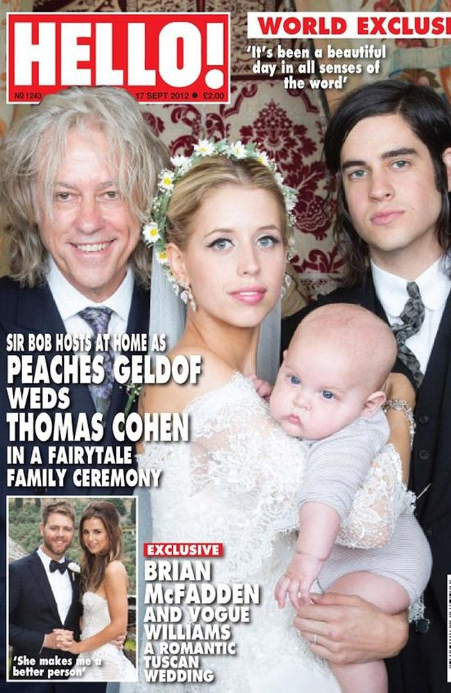 Peaches Geldof on the cover of Hello magazine.