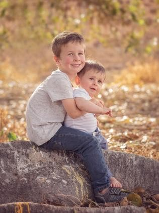 Koda Little, 4, and his brother Hunter Little, 10 months. Picture supplied by family.