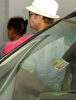 <p>Actor Brad Pitt (R) carries his children Zahara (C) and Shiloh as they arrive at the Nice Lenval Hospital, southern France, where pregnant U.S. actress Angelina Jolie has been admitted, July 2, 2008. Doctor Michel Sussmann gave few details away during a b</p>