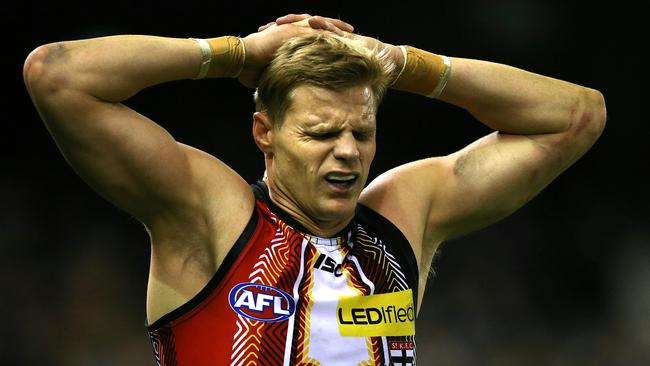 Riewoldt ran himself into the ground as per usual. Picture: Wayne Ludbey